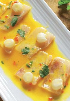 Tiradito de corvina #recipes #cuisine