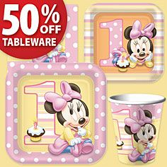 Minnie Mouse 1st Birthday Party Supplies- Girls 1st Birthday- 1st Birthday- Birthday Parties - Party America