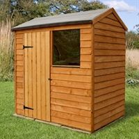 6' x 4' Shed-Plus Overlap Reverse Apex Shed (1.83x1.33m) - need to check space, but will hopefully have room for this shed in the back garden.  Good reviews and delivers for free.