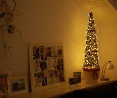 Dekobaum jule aus wei lackiertem metall mit sten zum schm cken endlich ein weihnachtsbaum - Christbaum alternative ...