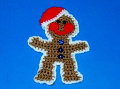 Gingerbread Boy Christmas Decoration by amydscrochet on Etsy, $3.00