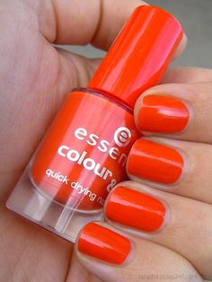 """In light of my Tangerine obsession, was very excited to add """"Wake Up"""" to my spring collection. My Spring, Enough Is Enough, Summer Nails, Cute Nails, Wake Up, No Time For Me, Told You So, Delicate, Nail Polish"""