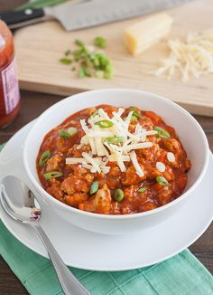 Buffalo Chicken Chili from @Tracey's Culinary Adventures I Tracey Wilhelmsen