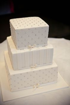 Tiered Boxes Wedding Cake