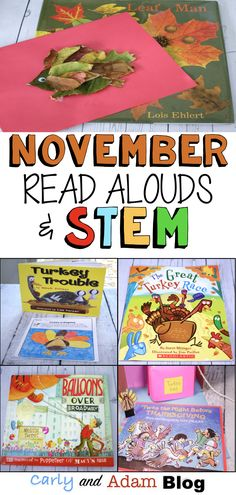 November STEM Read Alouds (Thanksgiving Read Alouds): We love using read alouds and STEM activities to create a fun and engaging classroom. Students love the hands-on learning Thanksgiving STEM challenges that incorporate, reading, writing, and making. #readalouds #stemactivities