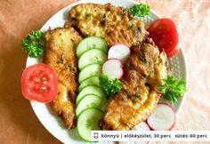 Csirkemell fokhagymás-tejfölös panírban Croatian Recipes, Hungarian Recipes, Hungarian Food, My Recipes, Chicken Recipes, Favorite Recipes, Main Dishes, Side Dishes, Poultry