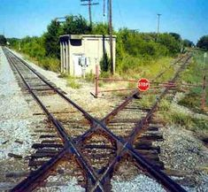 Remains of Railroad Interlocking Tower 64, Greenville, Texas today