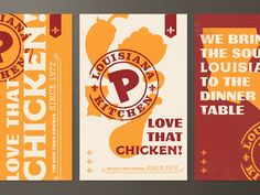 Popeyes (Brand Exploration) designed by Steve Wolf. Connect with them on Dribbble; the global community for designers and creative professionals. Chicken Restaurant Logos, Restaurant Branding, Restaurant Restaurant, Packaging Design, Branding Design, Menu Design, Design Design, Chicken Brands, Thighs