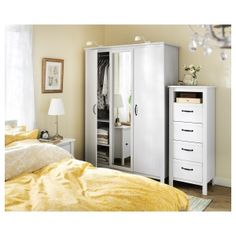 Stunning IKEA BRUSALI wardrobe with doors Adjustable hinges ensure that the doors hang straight