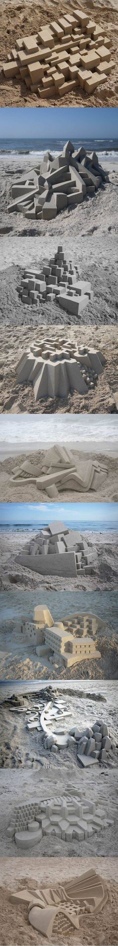 Sand art.some crab on that beach is probs really diggin this new real estate