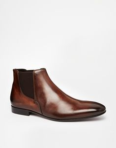 Rolando Sturlini Leather Chelsea Boots