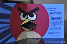 Angry Bird Party Invitation... Everyday Me