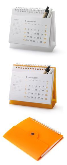 Desk Calendar with pocket for pens | Corporate Gifts