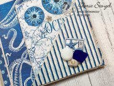 Scraps of Life: Graphic 45 Ocean Blue Mini Album Tutorial Diy Mini Album, Mini Albums Scrap, Mini Album Tutorial, Mini Scrapbook Albums, Quilling Designs, Graphic 45, Scrapbook Supplies, Book Making, Paper Decorations
