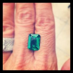 Finally after 3 months search world wide I found this stunning gem for a customer. A 5.27ct emerald. Clean, bright with perfect proportions.
