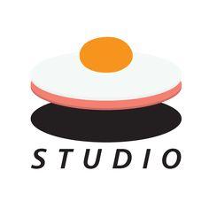HAM EGG STUDIO | LOGO Egg Logo, Studio Logo, Logo Food, Typo, Creative Ideas, Sunrise, Editorial, Logo Design, Eggs