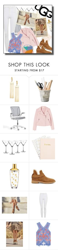 """""""The New Classics With UGG: Contest Entry"""" by rachel ❤ liked on Polyvore featuring Simone I. Smith, ESSEY, Pottery Barn, Cathy's Concepts, Kate Spade, UGG, Topshop, Tory Burch, Mark Cross and ugg"""