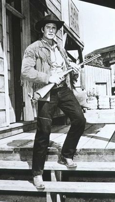 She'd think I was Cheyenne (Clint Walker) with my buckskin shirt on. She'd be gracious enough to never tell me who she thought I was with my buckskin shirt off. Bonanza anyone? (pic from promos for the Cheyenne TV Western Series, with Clint Walker Clint Walker, Tarzan, Radios, Vintage Tv, Vintage Horror, Vintage Movies, Tv Westerns, Nostalgia, Old Shows