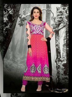 Purple Long Length Designer Salwar Kameez