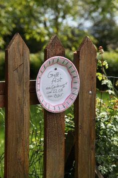 Basteln: Einladung zum Sommerfest aus Pappteller   Mein schönes Land bloggt