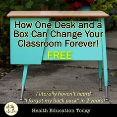 """literally haven't heard """"I forgot my back pack"""" as a reason for students not having their daily work in two years! ★Tired of students losing their papers? ★Students leaving papers on their desks? GET THIS FREE RESOURCE! Secondary Resources, Teaching Resources, Homeschooling Resources, School Resources, Teaching Tools, Education Today, Health Education, Health Class, Yoga Lessons"""