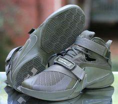 c6edd87d328 Nike Lebron Soldier IX 9 PRM Men s Basketball Shoes Olive 749490-223 Size 10