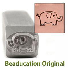 Beaducation.com - Elephant Design Stamp- Beaducation Original