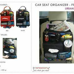 Car seat organizer  For order:  0812 195 76 195 (tlp/sms/ whatssap) line id: Dinda RedLine Pin BB: by sms YM:adindaditya Web: www.myredlineshop.com Www.redlineorganizer.com Facebook: redlineshop fan page Twitter/instagram : redline_shop