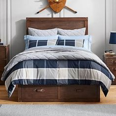 Preston Plaid Reversible Duvet Cover + Sham | PBteen