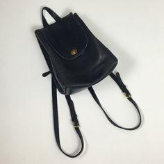 de7801227c605 Listed on Depop by herenowlosangeles. Mini BackpackBlack BackpackVintage  CoachBrass HardwareFlawsClosureBlack LeatherBackpacksWeather