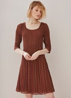 Image of Artisanal Printed Crinkle Dress