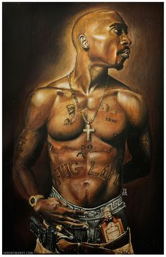 Details about JEREMY WORST Tupac Shakur 2PAC artwork painting print ...