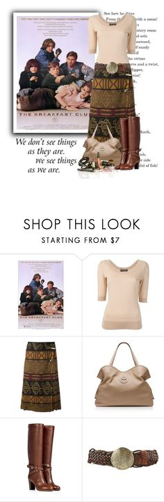 """""""The Breakfast Club"""" by moomoofan1972 ❤ liked on Polyvore featuring Dolce&Gabbana, Stella Jean, Tory Burch, Sergio Rossi and Forever 21"""