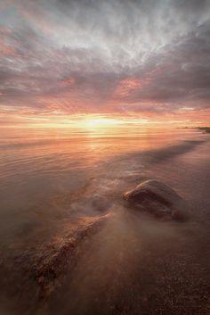 Sunset on Chudskoy Lake. Sony, Celestial, Sunset, Outdoor, Sunsets, Outdoors, Outdoor Living, Garden