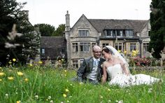 A sweet wedding moment at the Hare and Hounds Hotel