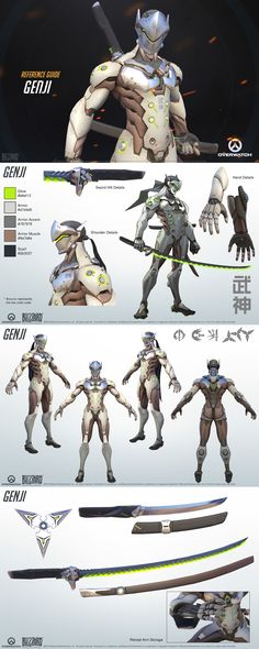 huuuuuuuuuaaaaaaaacaaaaaa look at that badass suit jezzss and that mottafkng katana Overwatch - Genji Reference Guide