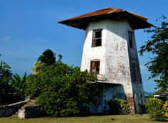 Moneymusk Library in Amity Hall. The library is located within a brick windmill that was once the center of the sugar factory works. This is the only brick windmill in Jamaica - all other windmills were made of locally-quarried limestone.