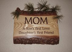 Rustic Mom Sign  A Sons first Love  Daughters by RUSTICNORTHERN, $26.00