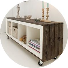 Ikea DIY I like the idea of the casters to move these around between the different rooms we have…. Ikea DIY I like the idea of the casters to move t. Upcycled Furniture, Pallet Furniture, Furniture Makeover, Home Furniture, Furniture Storage, Furniture Ideas, Furniture Removal, Bedroom Furniture, Teen Room Storage