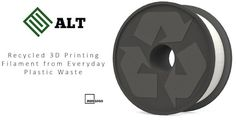 ALT's recycled 3D printing filament is produced in-house and made from a class of polymers called Polyolefins. This includes common plastics such as Polypropylene, Low-Density Polyethylene and High-Density Polyethylene used to make plastic bags, milk jugs, bottle caps and other short-lived products that are generally discarded within a year of manufacture.