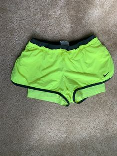 Size small bright running shorts from Nike. Dri fit style. Nike Dri Fit Shorts, Running Shorts, Workout Shorts, Gym Shorts Womens, Fitness Fashion, Bright, Style, Swag, Outfits