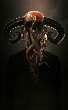 ArtStation - Elder, Maarten Verhoeven Dark Fantasy Art, Dark Art, Arte Horror, Horror Art, Satanic Art, Horror Monsters, Arte Obscura, Modelos 3d, Occult Art