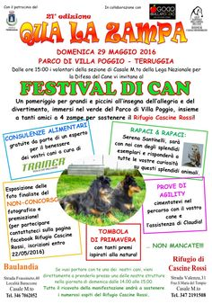 29/5 Qua La Zampa evento organizzato dalla #LegadelCane di #CasaleMonferrato (AL)