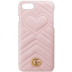 Women's Gucci Gg Marmont Leather Iphone 7 Case ($395) ❤ liked on Polyvore featuring accessories, tech accessories and gucci