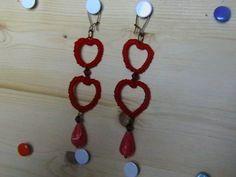 orecchini in chiacchierino cuore