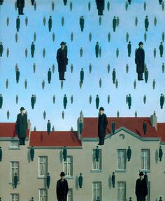 Rene Magritte - Gonconda 1953 Oil on canvas. My most favorite piece of art.