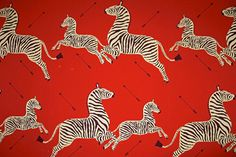 Gino's Zebra Digital Art Print - The iconic wallpaper from now-shuttered Gino's restaurant, across the street from Bloomindale's. Gino's was famous for its chopped salad and the zebra print walls, which Wes Anderson used in Gwyneth Paltrow's room in The Royal Tenenbaums. $249
