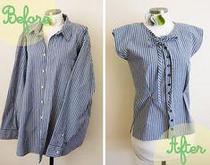 8 Amazing Men's DIY Shirt Refashion - Bead&Cord