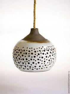 Ceramic lamp / Освещение ручной работы. Ярмарка Мастеров - ручная работа. Купить светильник керамический Дизайнерский. Handmade. Коричневый, белый, дизайнерский светильник