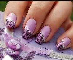 fun purple nails